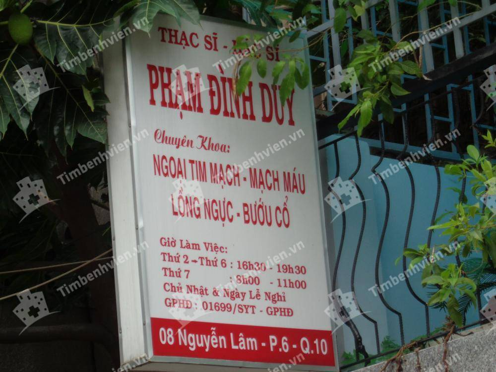 Phòng khám chuyên khoa Ngoại Tổng Hợp - ThS.BS. Phạm Đình Duy