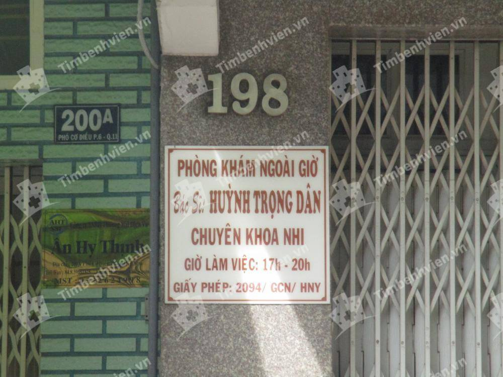Phòng khám chuyên khoa Nhi - BS. Huỳnh Trọng Dân
