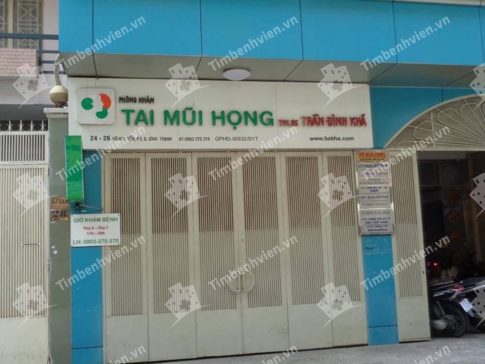 Phòng Khám Chuyên Khoa Tai Mũi Họng - BS. Trần Đình Khả - Cổng chính