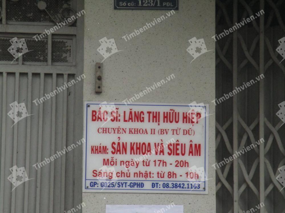 Phòng Khám Sản Phụ Khoa - BS. Lăng Thị Hữu Hiệp
