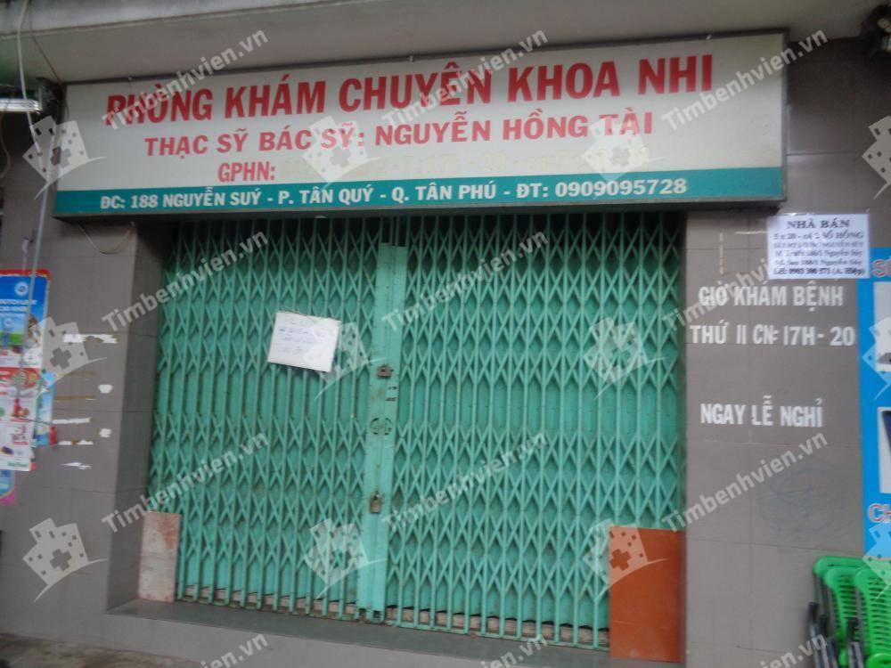 Phòng khám chuyên khoa Nhi - BS. Nguyễn Hồng Tài