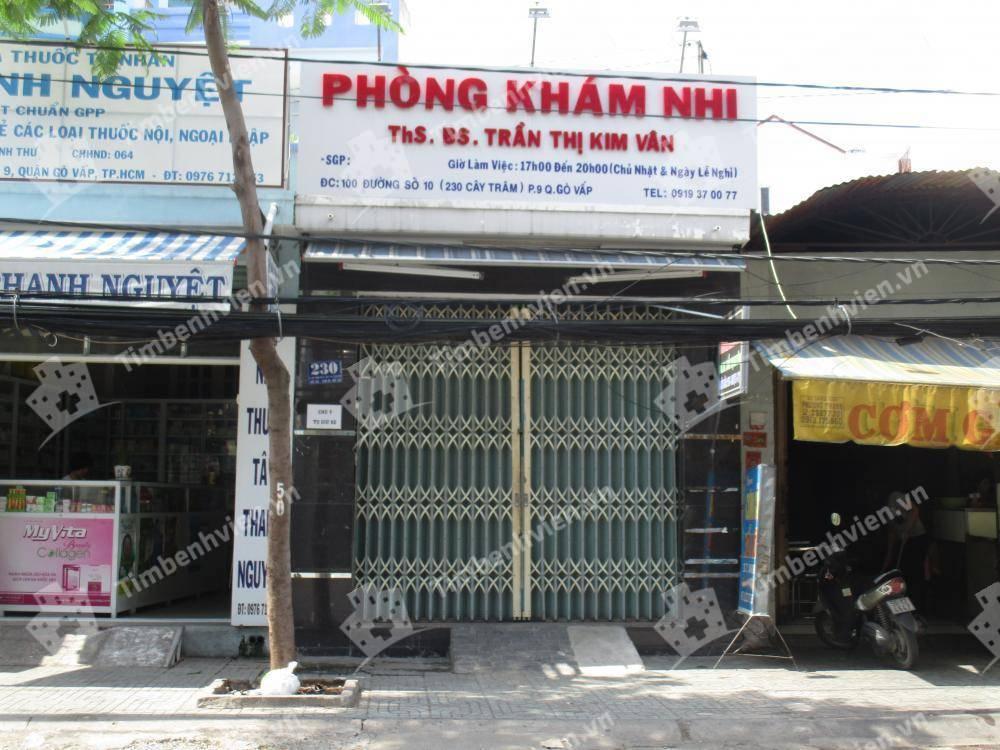 Phòng khám chuyên khoa Nhi - BS. Trần Thị Kim Vân