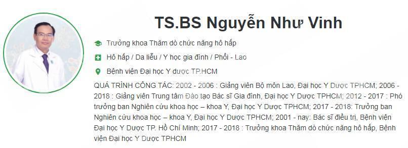 Phòng Khám Chuyên Khoa Lao & Bệnh Phổi - BS. Nguyễn Như Vinh