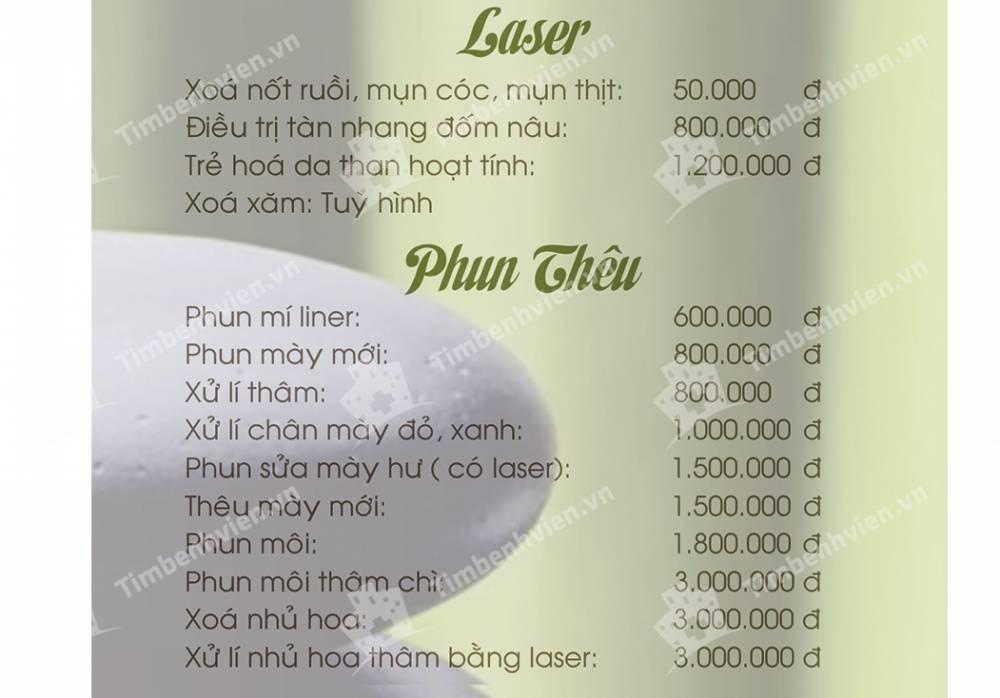 Bang gia Phương Linh Spa