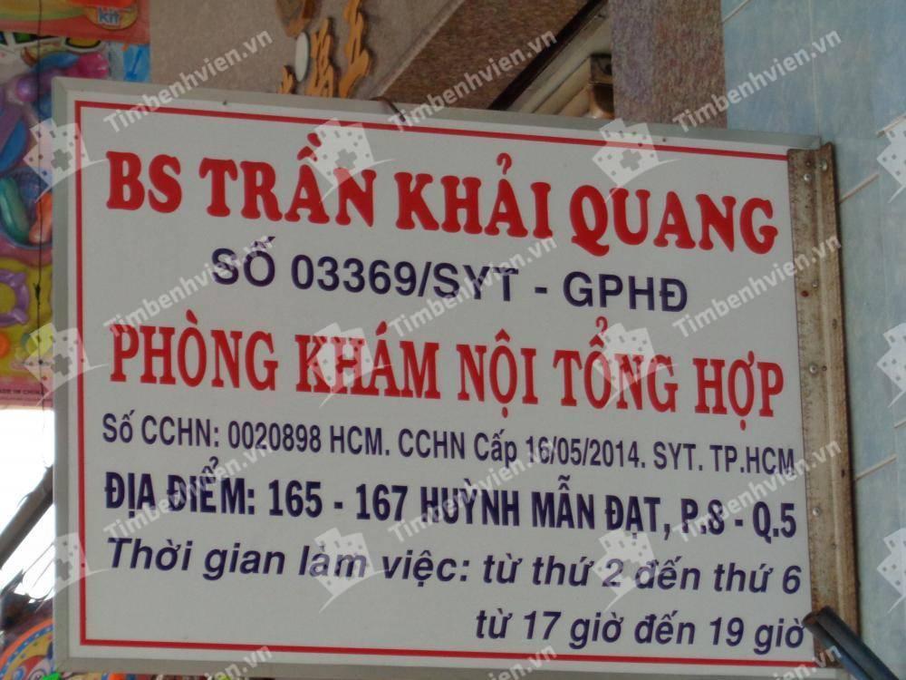 Bác Sĩ Trần Khải Quang - Khoa Nội Tổng Quát
